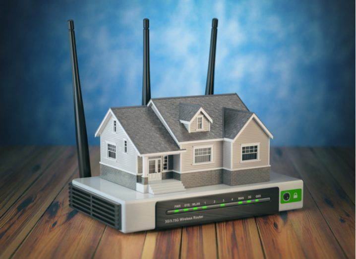 Picture of wi-fi router shaped like a house