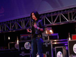 Karen Contet Farzam speaking at Inspirefest 2018