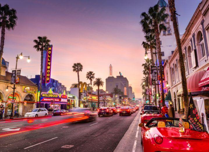 traffic in Hollywood