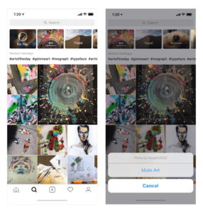 The new topics channel feature in Explore. Image: Instagram