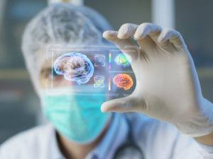 surgeon holding a future medical device