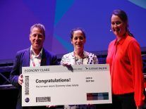 Honest Eats mini hack top prize goes to tapdancing vending machine