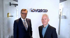 From left: Alastair Hamilton, CEO, Invest NI and Patrick McAliskey, managing director, Novosco. Image: Invest NI