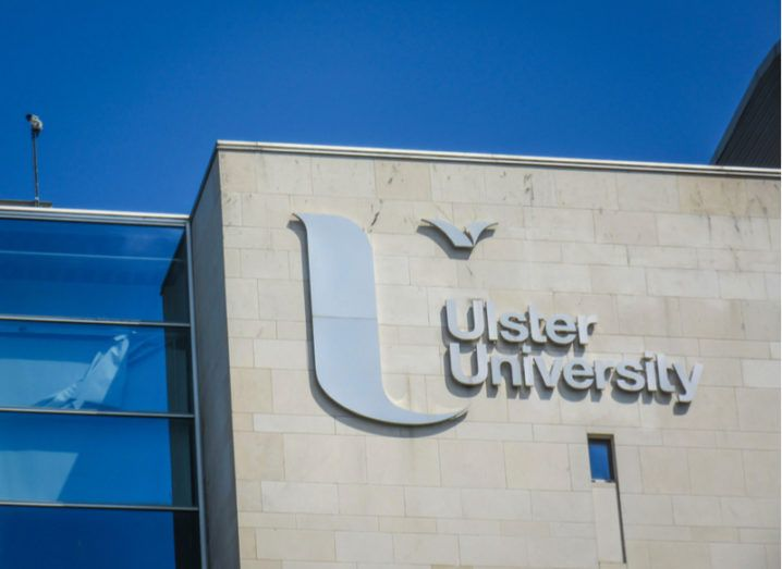 ulster university building with blue sky in background
