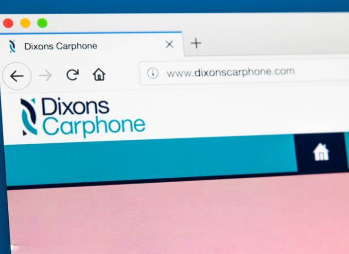 Dixons Carphone website