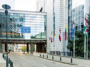 EU Parliament buildings in Brussels