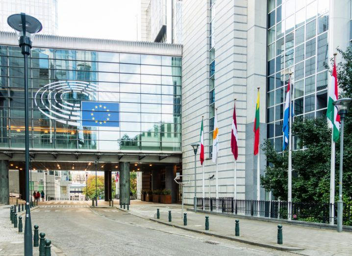 EU Parliament buildings in Brussels