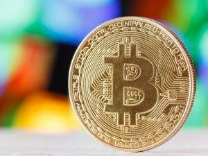 Bitcoin on a table