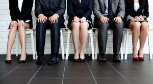 Morgan McKinley Ireland Employment Index article image – people anxiously waiting to be called for job interview