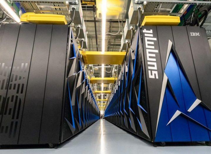 Summit supercomputer at Oak Ridge Labs