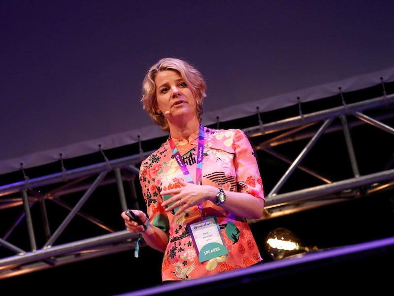 Alexa Gorman, global vice-president, SAP.iO Fund and Foundry speaking at Inspirefest
