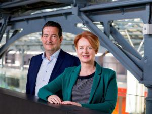 Chasing Returns chair Ivan Fox with CEO Ann Hunt. Image: Chasing Returns