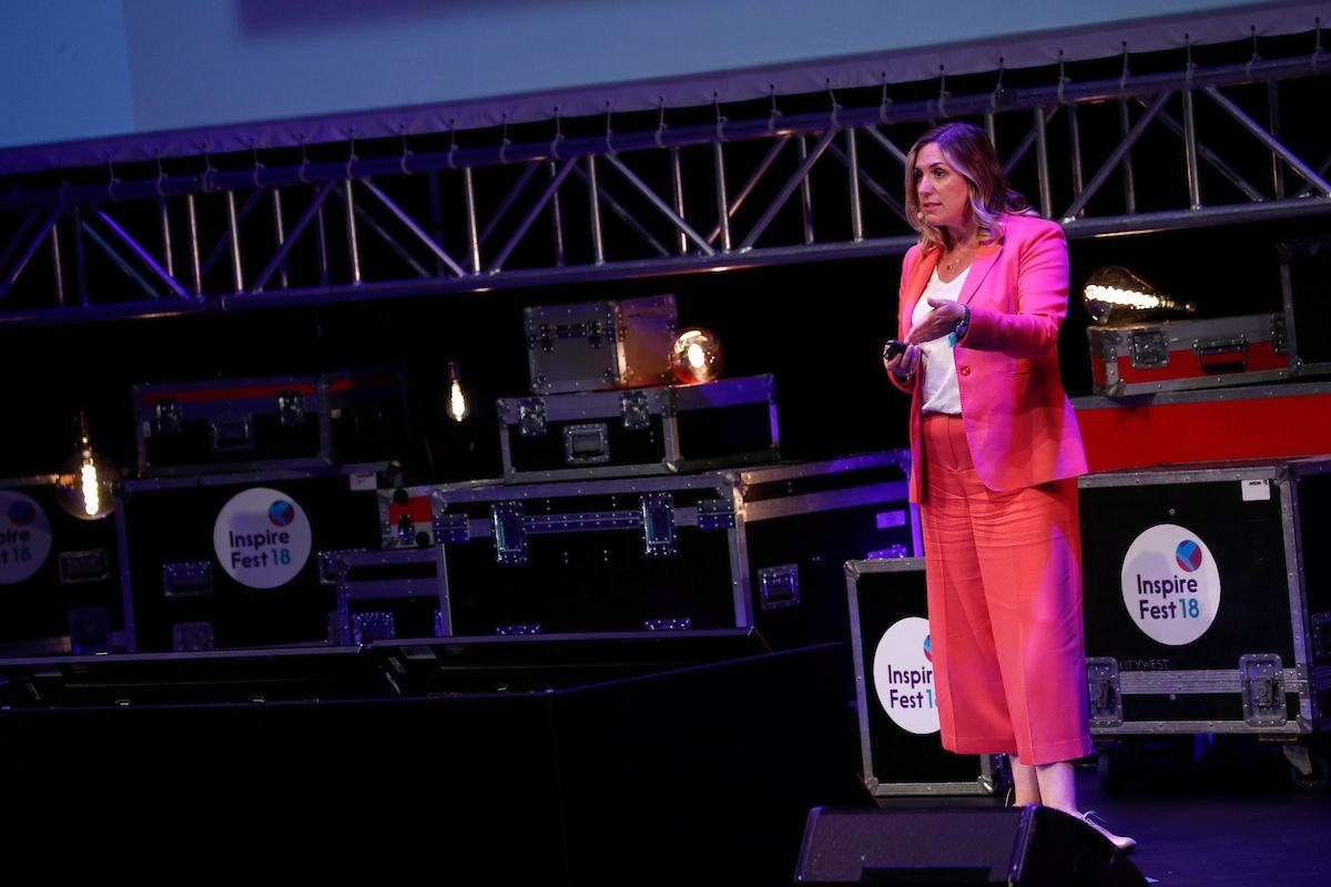 Ciara Donlon speaking at Inspirefest 2018