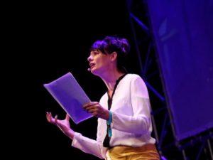 Noeline Kavanagh of Macnas at Inspirefest 2018. Image: Conor McCabe