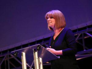 Prof Louise Kenny speaking at Inspirefest 2018.