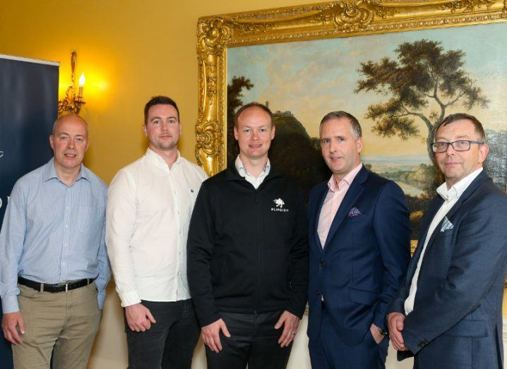 Left to right: Declan Magee, head of Venture and Investment, Elkstone Partners; James McCarthy and Conor McCarthy, founders of Flipdish; Ruairi O'Neill, CEO, Elkstone Partners; and Alan Merriman, CEO, Elkstone Private. Image: Elkstone