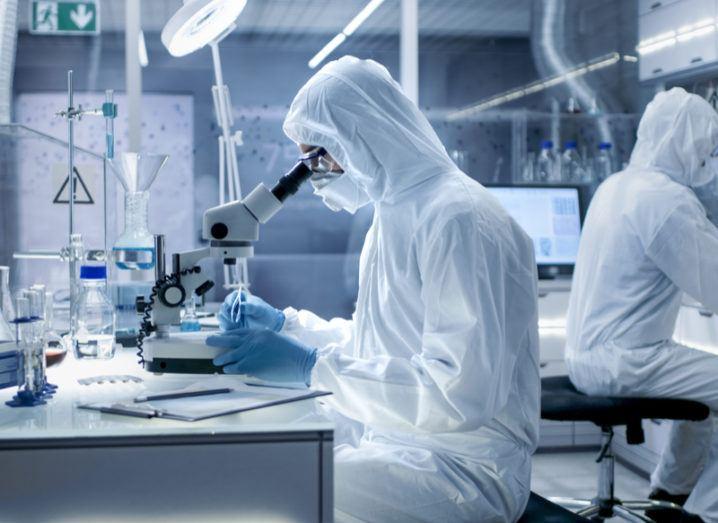Scientist working in advanced lab