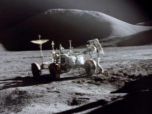 Astronaut on the moon's surface