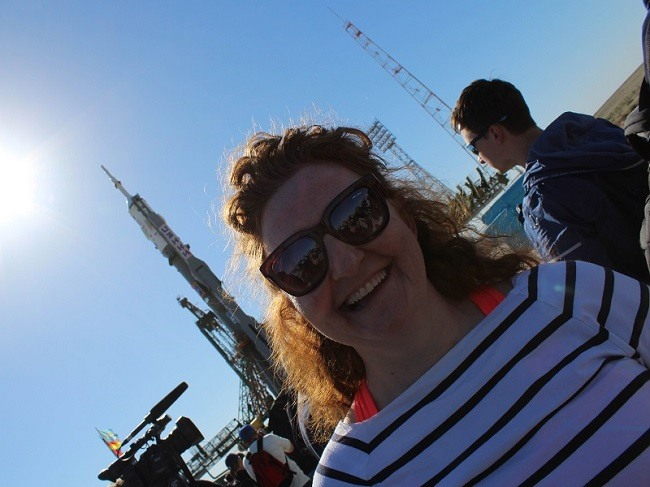 Niamh at the launchpad
