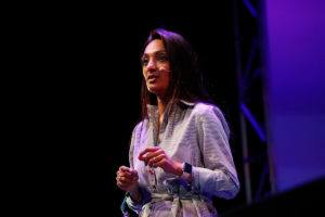 Ranjani Kearsley, head of HR Fidelity International speaking at Inspirefest