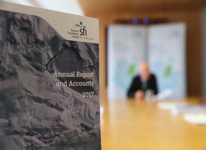 Cover of the SFI annual report for 2017