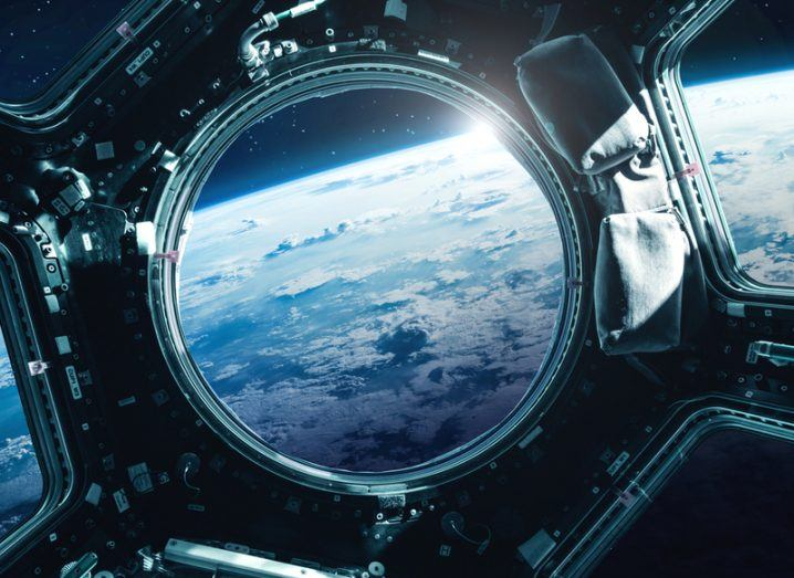 Porthole looking after Earth