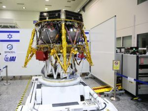 The SpaceIL spacecraft in a clean room