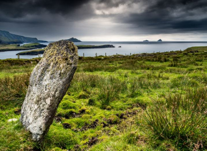 Standing stone on Valentia Island