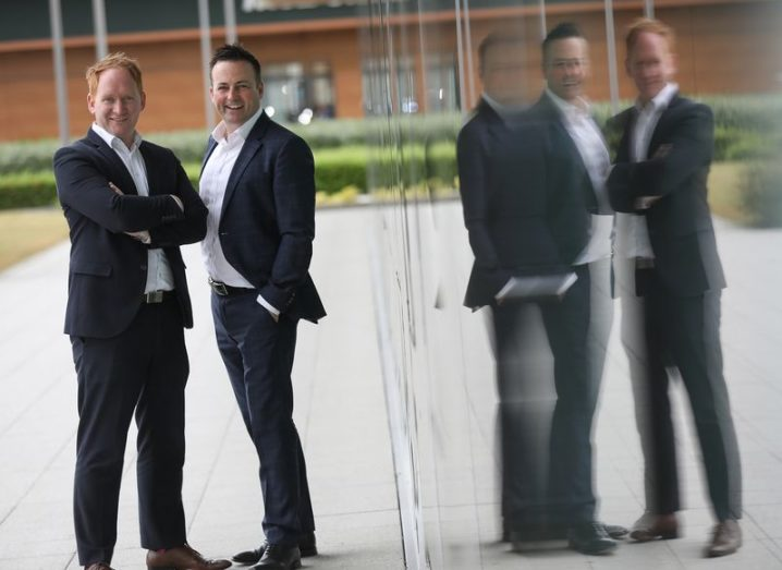 From left: Damien McCann, Viatel director of sales and marketing, and Ronan Whelan, Siro commercial director. Image: Julien Behal