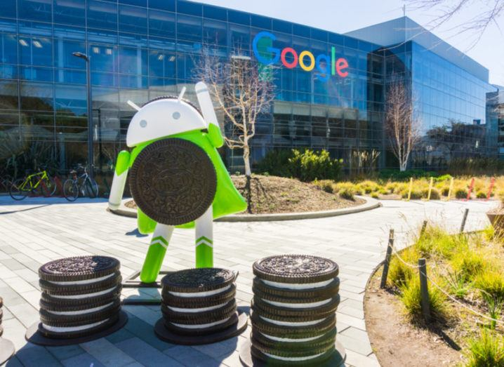 Android statue at Googleplex in Mountainview
