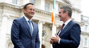 Pictured: An Taoiseach Leo Varadkar with EY managing partner Frank O'Keeffe. Image: Mark Maxwell