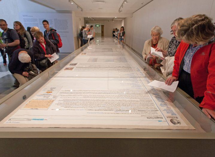 Magna Carta Embroidery by Cornelia Parker at the British Library