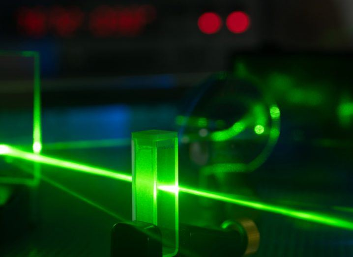 Photonics experiment in a lab. Image: Science Photo/Shutterstock