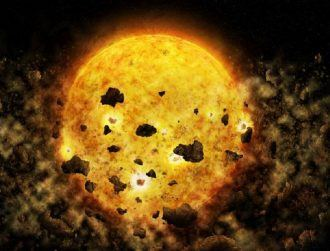 We may have just witnessed a baby star devouring an entire planet