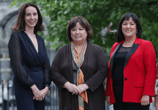 Sarah Friar, CFO of Square, with former Tánaiste Mary Harney and Anne Heraty, CEO of Cpl Resources plc. Image: Square