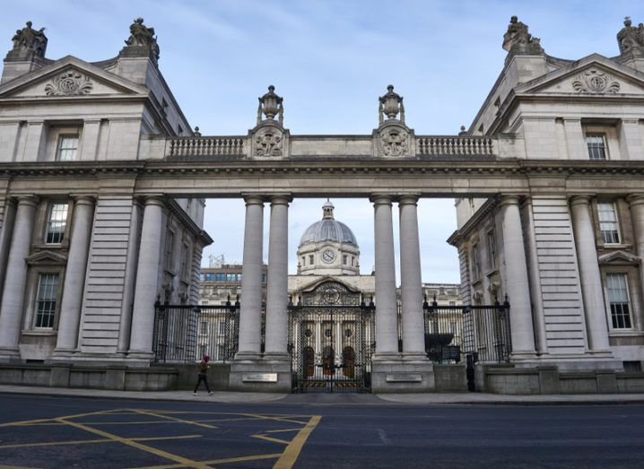 Irish government buildings, where the Israeli goods ban bill vote was held