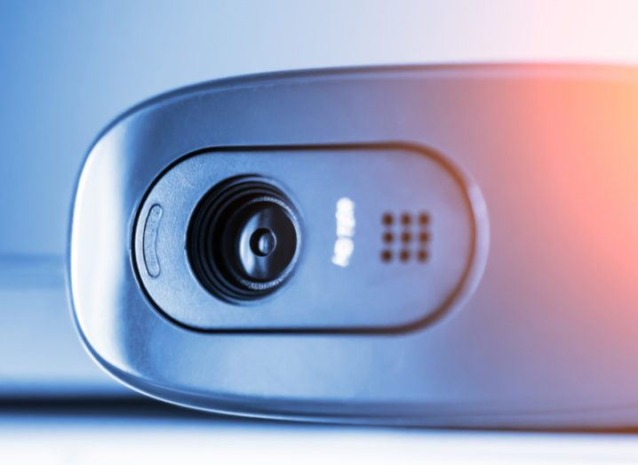 close up of webcam. A new email scam claims to have webcam footage of the victim