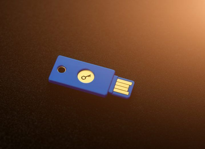USB security key. Google staff use these to keep their details safe