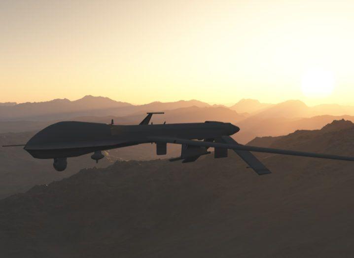 Reaper drone in flight
