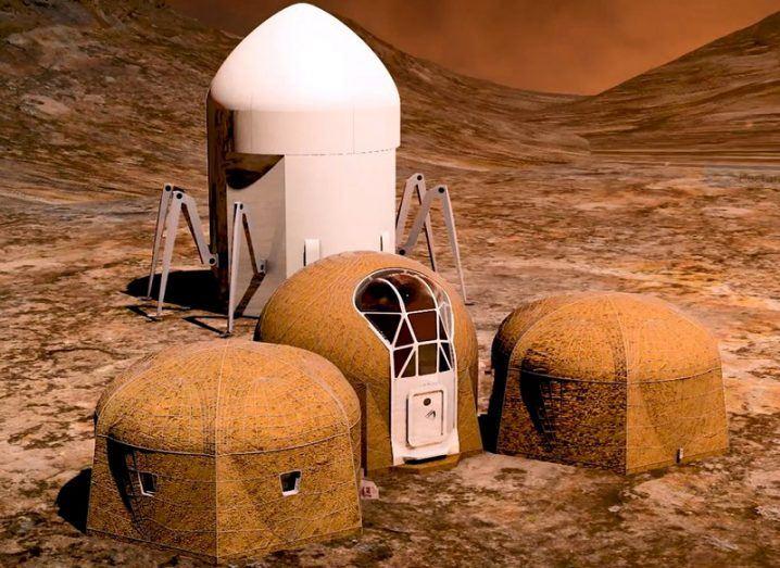Martian habitats and giant 3D printer of team Zopherus