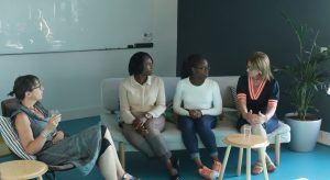 From left: Ann O'Dea, CEO Silicon Republic; Olu Atilade; Tinu Atilade, Teen Turn participant; and Laura Murphy, head of operations at Murex. Image: Teen Turn