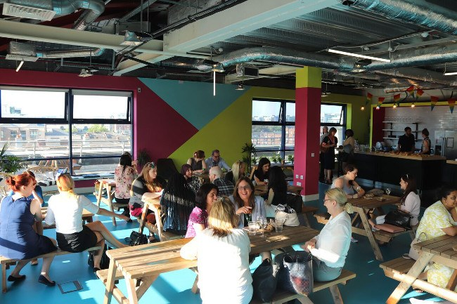 Crowd at Teen Turn event at Huckletree offices in Dublin 2