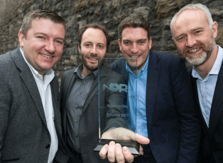 Pictured: David Tighe, head of Enterprise and Innovation, Bank of Ireland; Flavian Charlon, CTO at Trezeo; Garrett Cassidy, CEO of Trezeo; and Ben Hurley, CEO, NDRC. Image: Shane O'Neill, SON Photographic