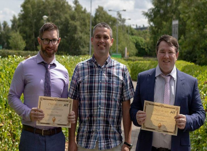 Athlone IT researchers receiving awards
