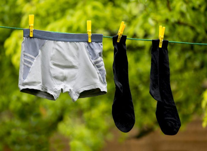 Boxers on a washing line