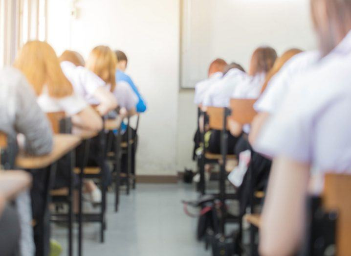 Students sitting for exams