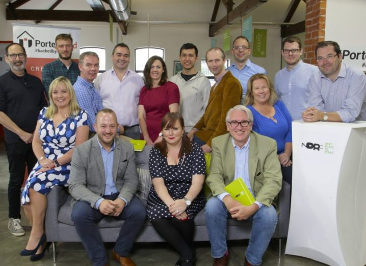 The new group of start-ups at PorterShed. Group photograph.