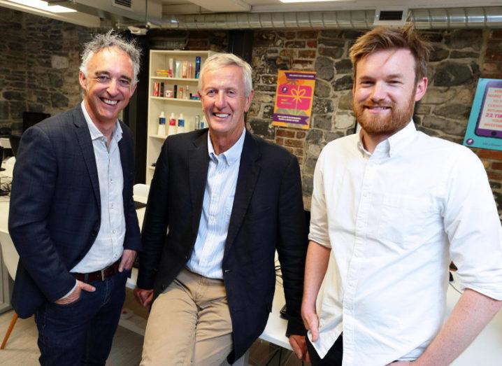 From left: John Phelan, national director, HBAN; Pat Garvey, chairman, Phorest; Ronan Perceval, co-founder and CEO, Phorest. Image: Philip Leonard