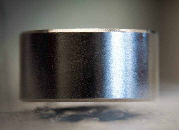 Levitating magnet on a superconductor