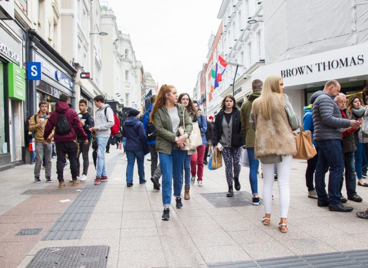 crowds on Grafton Street